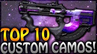"""TOP 10 """"CUSTOM CAMOS"""" IN CALL OF DUTY! (Galaxy Camo, Neuron Camo, Rainbow Camo & MORE!)"""