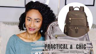 My Work Travel Tumi Backpack   Tiffannia #chictravel #businesstravel