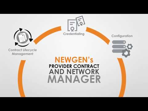 Provider Contract and Network Manager by Newgen Software Inc (Full Video)