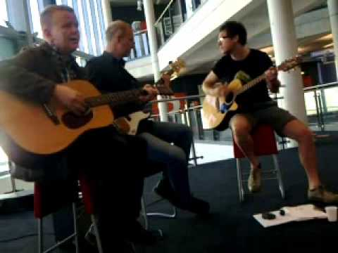 The Gramercy Riffs Unplugged at Cardiff Central Library 2011.