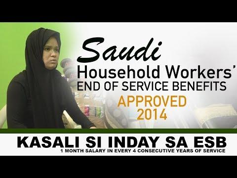 End of Service Benefits (ESB) para sa mga Household Workers ng Saudi Arabia