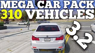 GTA 5 REAL CARS MOD: Mega Realistic Car Pack 3.2 (310 CARS) [DOWNLOAD]