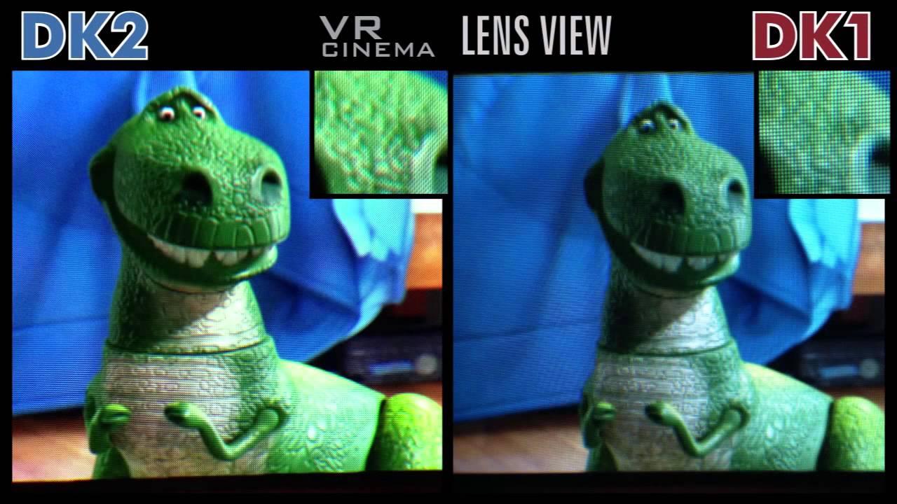 f806e820651 OCULUS RIFT DK2 vs DK1 SIDE by SIDE LENS VIEW Screen Comparison -VR CINEMA  !!!