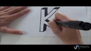 Cómo hacer la letra K en 3D