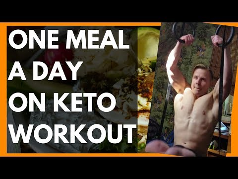 OMAD KETO WORKOUT - One Meal a Day Full Day of Eating on Keto