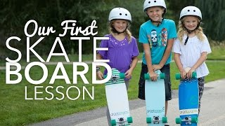 First Skateboard Lesson