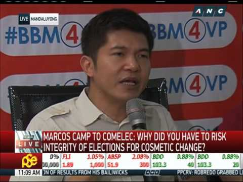 Baixar Marcos camp wants public audit of automated poll system
