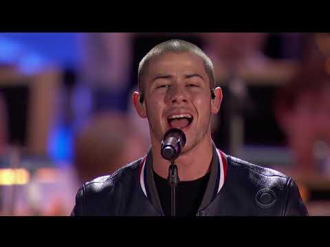 Boston Pops Fireworks Spectacular 2016   America the Beautiful Nick Jonas & Demi Lovato