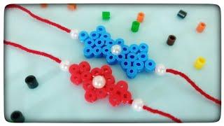 designer perler bead rakhi | rakhi tutorial | creative v