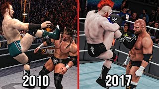 The Evolution Sheamus Brogue Kick ( Smackdown vs RAW 2011 To WWE 2K18 )