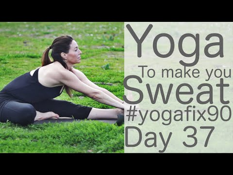 30 Min Yoga to Make You Sweat Day 37 Yoga Fix 90 with Fightmaster Yoga