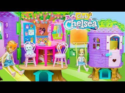 Barbie Club Chelsea Ağaç Evi Kuruyorum   EvcilikTV