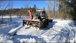 Tractor Snowplowing Access for the First Time this Season