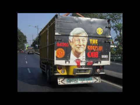 Very funny truck bumper stickers decals in indonesia