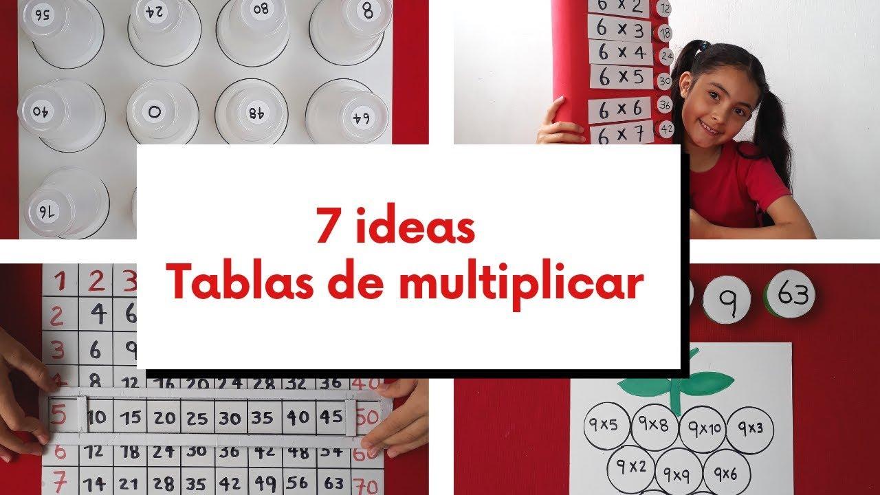 7 Ideas Para Aprender Las Tablas De Multiplicar Jugando Youtube