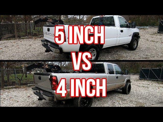duramax 4 inch exhaust vs 5 inch