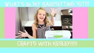 What's In My Babysitting Kit!!!