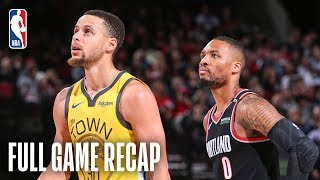 WARRIORS vs TRAIL BLAZERS | POR Pulls Away In The 4th | February 13, 2019