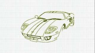 How to Draw a Sports Car - Easy - Video