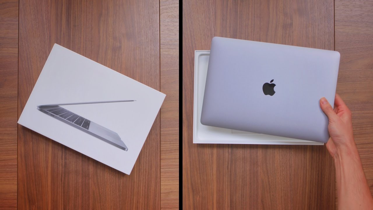 13 Inch Space Gray Macbook Pro Unboxing 2016 Youtube