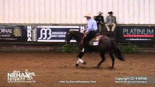 Wimpys Top Model Ridden By Randy L Schaffhauser  - 2014 Nrha Futurity (nov. Horse Open)