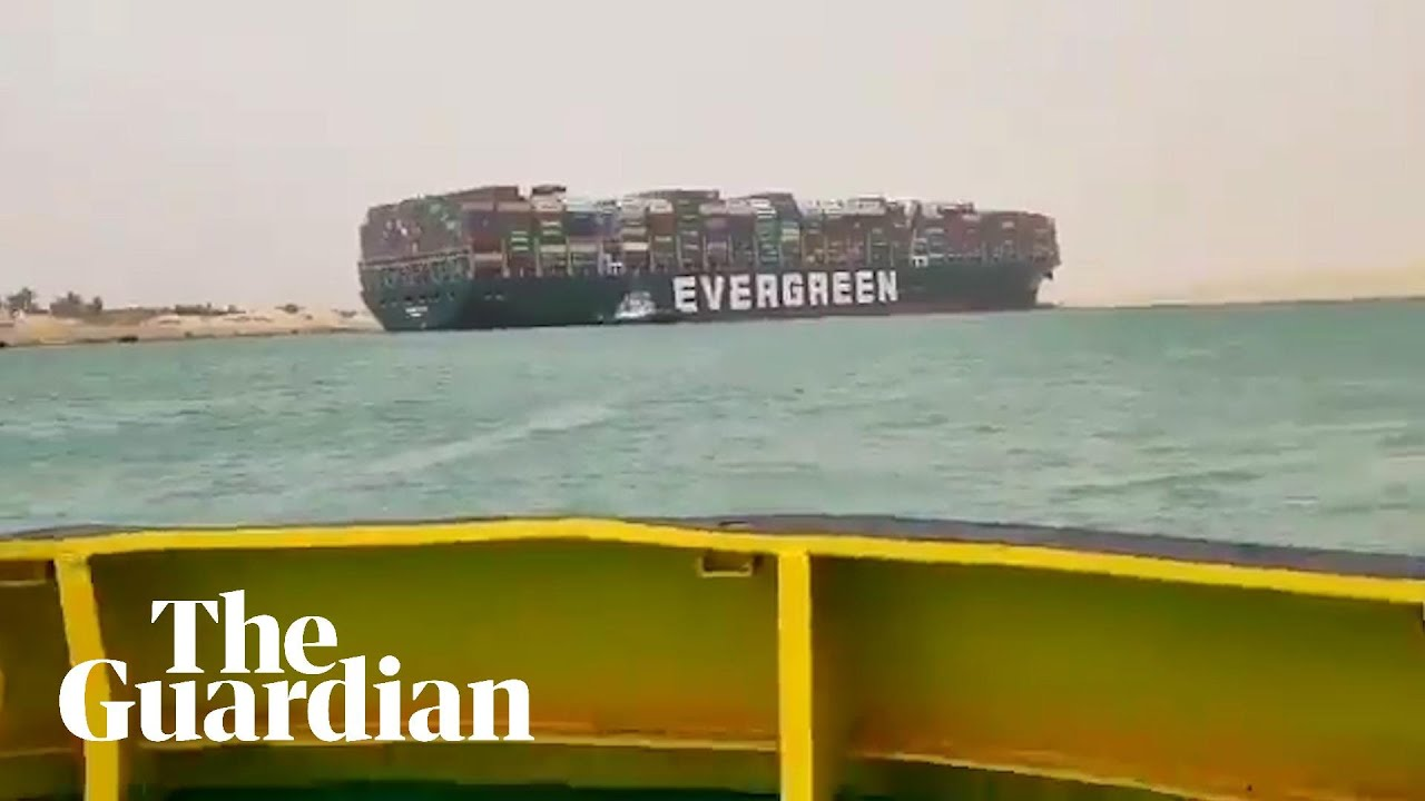 Ship Runs Aground in Suez Canal Again
