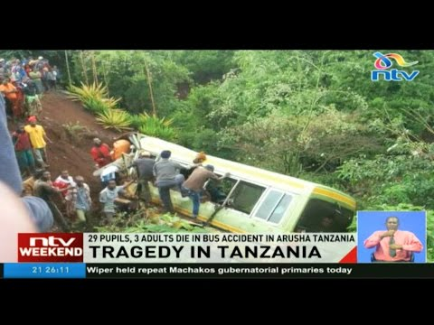 29 pupils, 3 adults die in bus accident in Arusha Tanzania