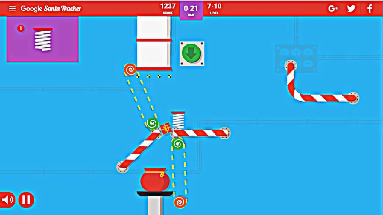 google santa tracker present bounce 2016 level 1 10 playthrough