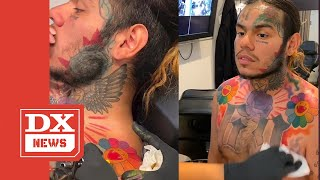 Bearded Tekashi 6ix9ine Shares New Tattoo Photo Through Akademiks