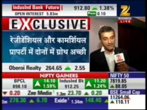 Interview with Mr. Vikas Oberoi - CMD, Oberoi Realty on Zee Business Buzzing News
