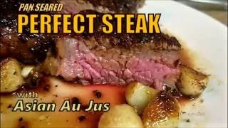 Perfect Pan Seared Steak in 60 Seconds! Gordon Ramsay Approved!