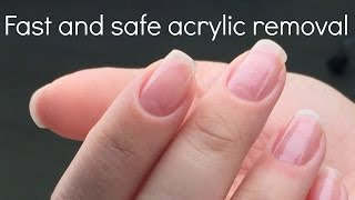 How to remove acrylic nails fast and safe | Nail tech secrets by nailcou