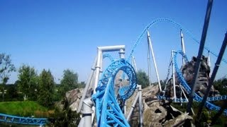 blue fire Megacoaster front seat on-ride HD POV Europa Park