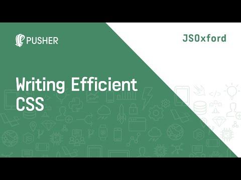 Writing Efficient CSS - JSOxford