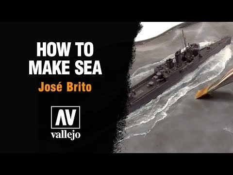How to make sea on dioramas