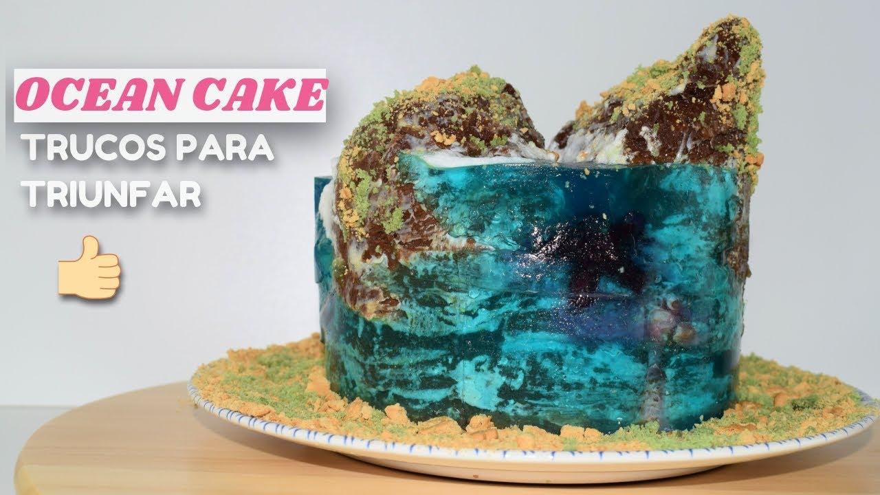 TARTA OCÉANO o TARTA ISLA aprende a hacerla con estos TRUCOS y CONSEJOS | ISLAND CAKE 🏝🌊 OCEAN CAKE