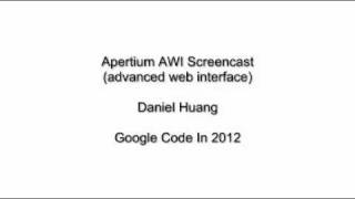 Apertium Advanced Web Interface/AWI (Google Code In 2011)