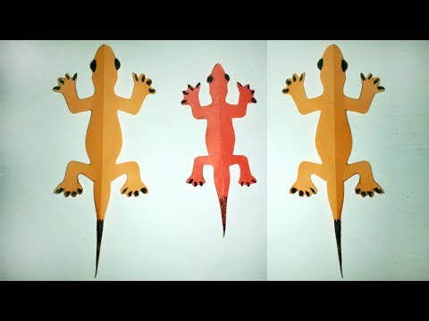 DIY-Kids Room Decoration !!! How To Make A Paper Lizard Very Simple Way!!!