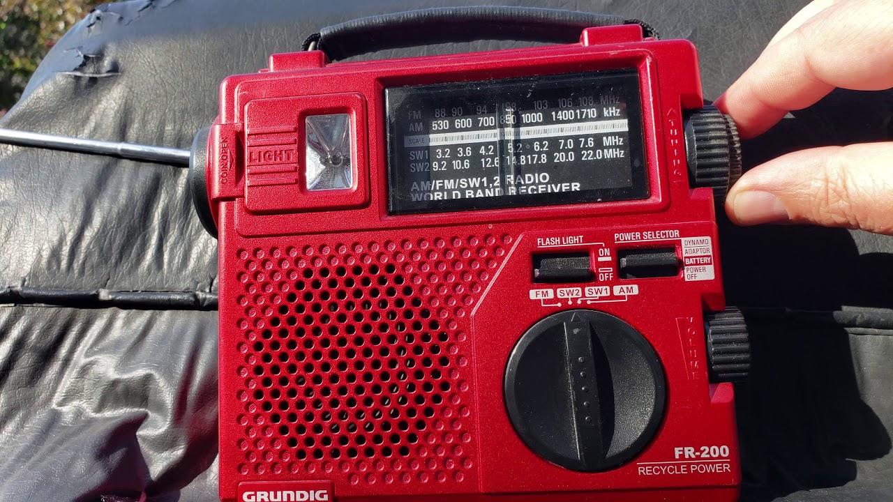Grundig FR 200 emergency radio on Romania 13650 Khz Shortwave