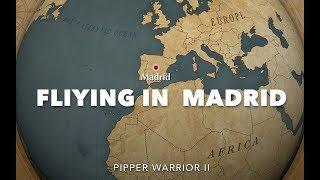 Flying  in Spain ( Pueblos de Toledo ) Piper Warrior II