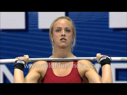 Marilou DOZOIS PREV.OST wins gold medal in Women's 53kg Weightlifting : Commonwealth Games 2010