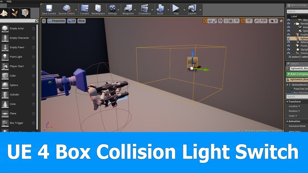 Ue4 box collision blueprint for light switch youtube ue4 box collision blueprint for light switch malvernweather Gallery
