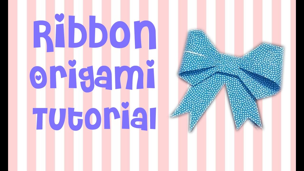 Cara Membuat Pita Origami | Ribbon Origami Tutorial - YouTube