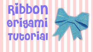 Cara Membuat Pita Origami | Ribbon Origami Tutorial