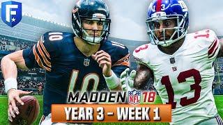 Madden 18 Bears Franchise Year 3 - Week 1 vs Giants   Ep.41 2017 Video