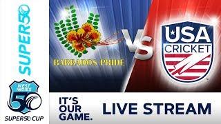 Super50 Cup - Full Match   Barbados v USA   Tuesday 16 October 2018
