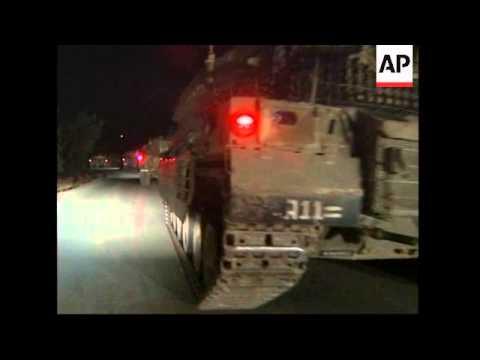 Israeli Tanks Cross Border Into Lebanon