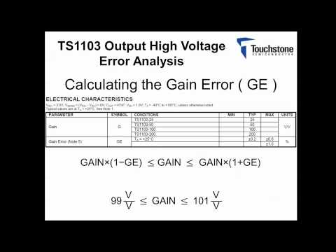 TS1103 Error Budget Analysis