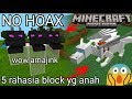 5 rahasia block aneh yg mungkin kalian blm ketahui di minecraftPE nomods !?