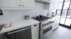 Interior Design — Crisp, Clean & Narrow Brooklyn-Style Galley Kitchen Renovation